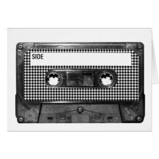 Cartes Cassette noire et blanche de pied-de-poule