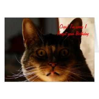 Cartes CAT tardif d'anniversaire