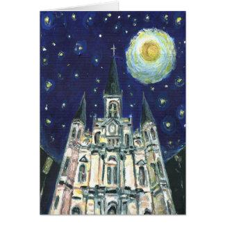 Cartes Cathédrale de nuit étoilée