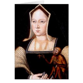 Cartes Catherine d'Aragon avec le singe