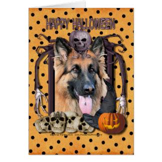 Cartes Cauchemar de Halloween - berger allemand -