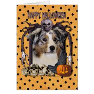 Cartes Cauchemar de Halloween - berger australien
