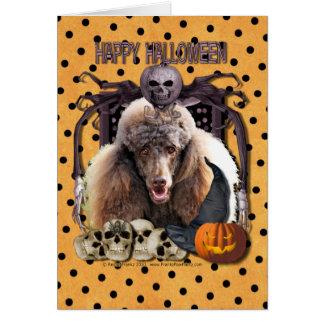 Cartes Cauchemar de Halloween - caniche - chocolat