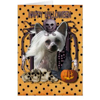 Cartes Cauchemar de Halloween - crêté chinois - Kahlo