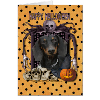 Cartes Cauchemar de Halloween - teckel - Winston