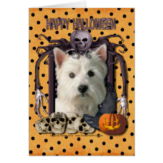 Cartes Cauchemar de Halloween - Westie