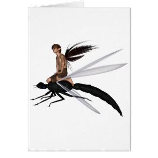 Cartes Cavalier féerique de libellule