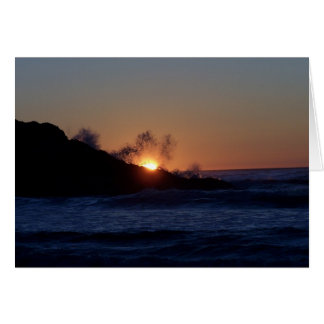 Cartes Cavité de barbes de coucher du soleil