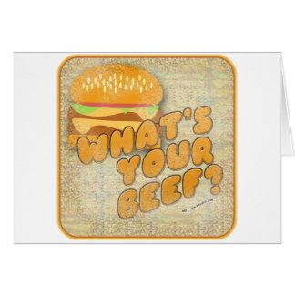 Cartes Ce qui est votre hamburger drôle de boeuf