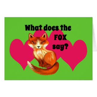 Cartes Ce qui fait le Fox pour indiquer l'habillement et