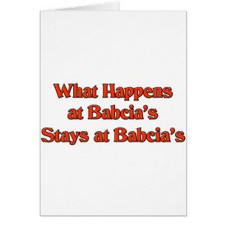 Cartes Ce qui se produit aux séjours de Babcia chez