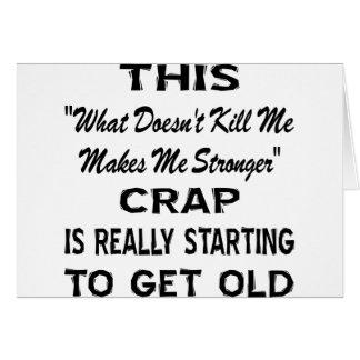 """Cartes Ceci """"me fait"""" une merde plus forte vieillissant"""
