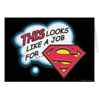 Cartes Ceci ressemble à un travail pour Superman