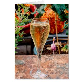 Cartes Célébration de Champagne de chute