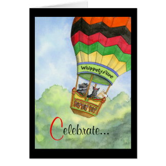 Cartes Célébration montante en ballon de Scottie