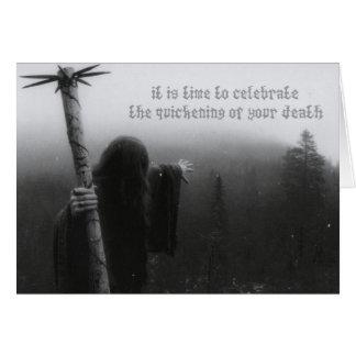 Cartes Célébrez l'accélération de votre mort