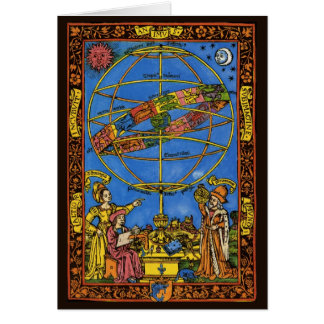 Cartes Céleste vintage, astronome Claudius Ptolémée