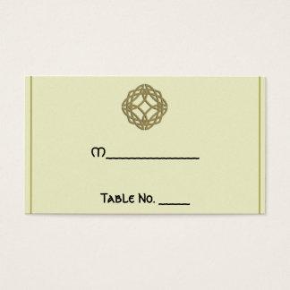 Cartes celtiques d'endroit de mariage de noeud