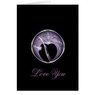 Cartes Cercle d'art de fractale avec le coeur