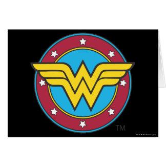 Cartes Cercle de la femme de merveille | et logo
