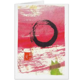 Cartes Cercle magenta de zen