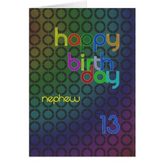 Cartes Cercles d'anniversaire pour le neveu âgé 13