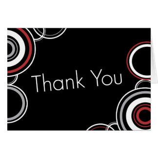 Cartes Cercles noirs et rouges de Merci -