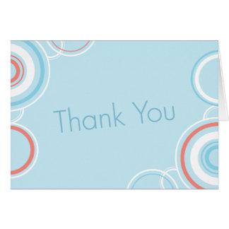 Cartes Cercles roses et bleus de Merci -