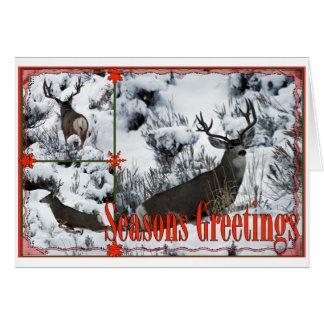 Cartes Cerfs communs de mâle de salutations de saison