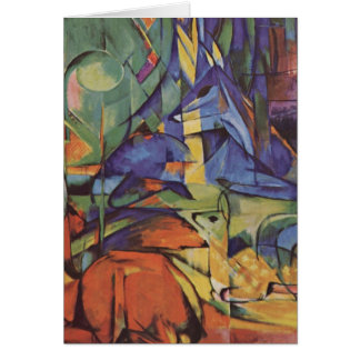 Cartes Cerfs communs - Franz Marc