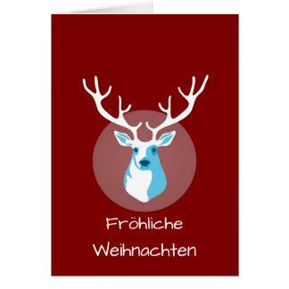 Cartes Cerfs communs rouges et blancs Fröhliche