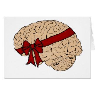 Cartes Cerveau de cadeau de Noël