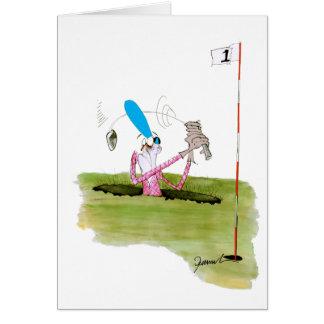 Cartes cessez de creuser - golf, fernandes élégants