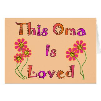 """Cartes """"Cet Oma est les cadeaux du jour"""" de mère aimée"""