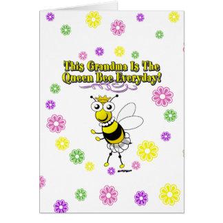 Cartes Cette grand-maman est les fleurs quotidiennes