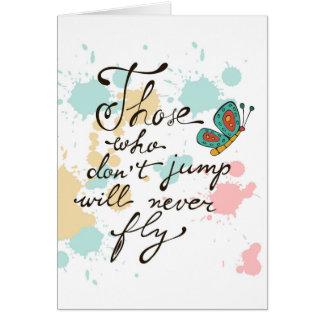 Cartes Ceux qui ne sautent pas ne voleront jamais
