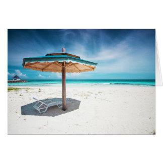 Cartes Chaise de plage et plage argentée de sables du