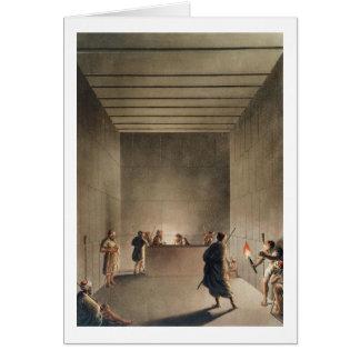 Cartes Chambre et sarcophage dans la grande pyramide du