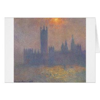 Cartes Chambres du Parlement, effet de lumière du soleil