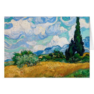 Cartes Champ de blé avec des cyprès par Vincent van Gogh
