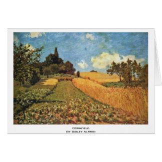 Cartes Champ de maïs par Sisley Alfred