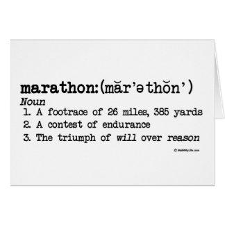 Cartes Chance de définition de marathon bonne