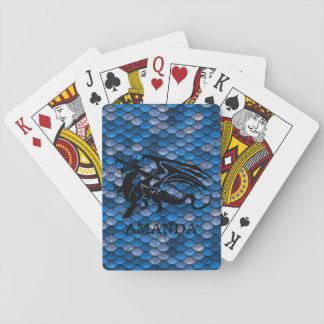Cartes chanceuses personnalisées de dragon cartes à jouer