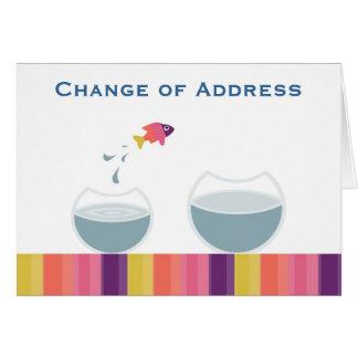 Cartes Changement d'adresse