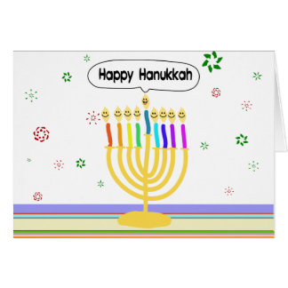 Cartes Channukah heureux Menora/Chanukia