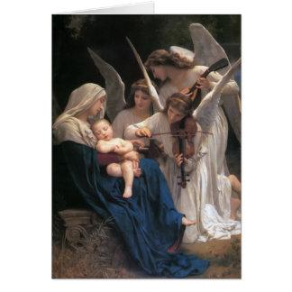 Cartes Chanson de Noël de cru d'anges