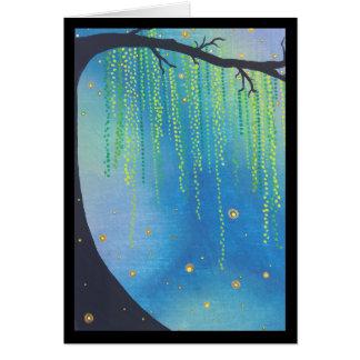Cartes Chanson d'insectes d'étoiles et de foudre de nuit