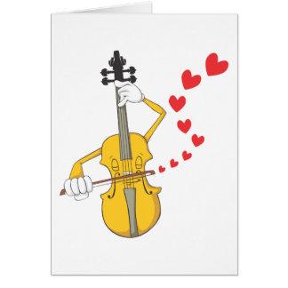 Cartes Chanter une sérénade à romantique de violon