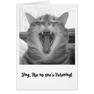 Cartes Chantez, comme unique écoute !