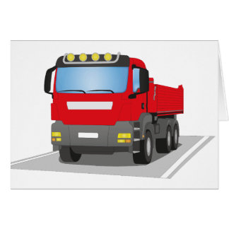 Cartes chantiers camion rouges